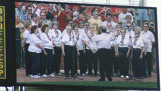 Circle Singers performing at Great American Ballpark